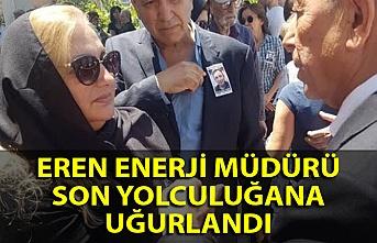 Eren Enerji müdürü Ankara'da son yolculuğuna uğurlandı