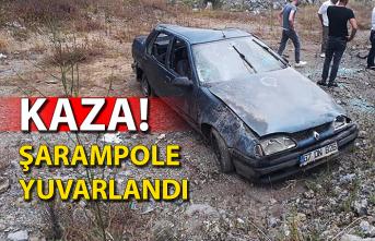 Kaza! Şarampole yuvarlandı...