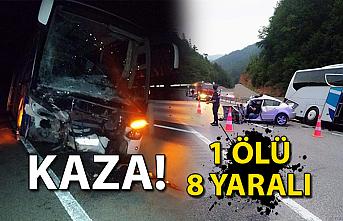 Kaza! 1 ölü 8 yaralı...