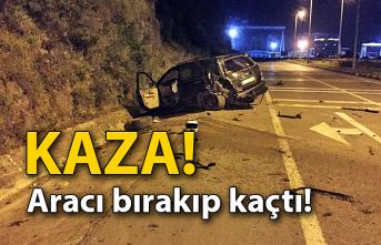 Kaza! Aracı bırakıp kaçtı...