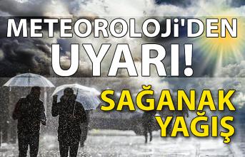 Meteoroloji'den uyarı! Sağanak yağış...