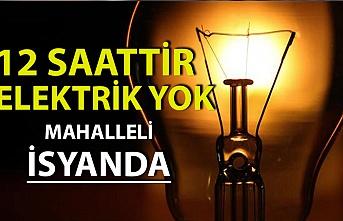 Terakki Mahallesi'ndeki elektrik kesintisi vatandaşı isyan ettirdi