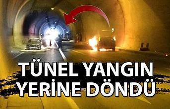 Tünel yangın yerine döndü...