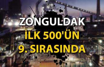 Zonguldak ilk 500'ün 9. sırasında...
