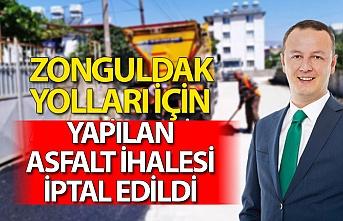 Zonguldak yolları için yapılan asfalt ihalesi iptal edildi