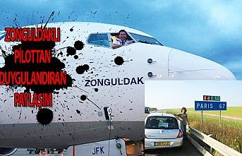 Zonguldaklı pilottan duygulandıran paylaşım
