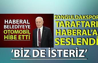 Zonguldakspor taraftarı Haberal'a seslendi