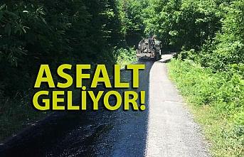 Zonguldak'ta köy yollarına asfalt