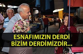 Başkan Bozkurt, pazarcı esnafın sıkıntılarını dinledi