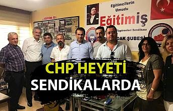 Ünal Demirtaş ve CHP heyeti sendikalarda