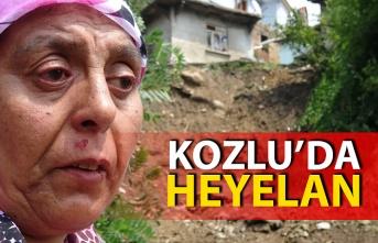 Zonguldak'ın Kozlu ilçesinde dün yaşanan kuvvetli yağış sonrası heyelan meydana geldi.