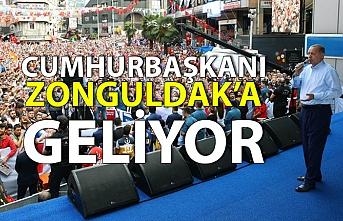 Cumhurbaşkanı Zonguldak'a geliyor...