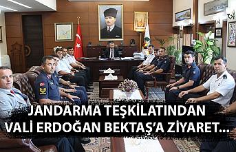 Jandarma teşkilatından Vali Erdoğan Bektaş'a ziyaret...