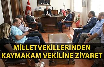Milletvekillerinden yeni Kaymakam Vekiline 'hoş geldin' ziyareti