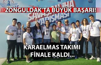 Zonguldak'ta büyük başarı... Karaelmas takımı, finale kaldı...