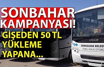 Zonguldak Belediyesi Özel Halk Otobüslerinden sonbahar kampanyası