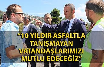 Zonguldak'ta asfalt çalışmaları hızla devam ediyor
