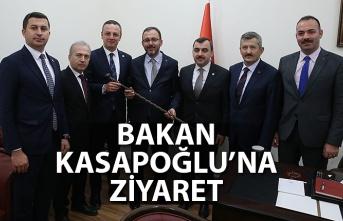BAKAN KASAPOĞLU'NA ZİYARET