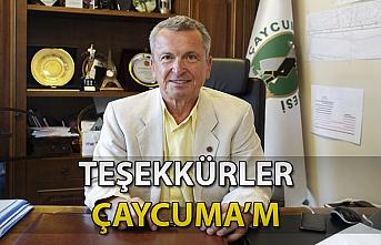 Çaycumalılar'a Başkan'dan Teşekkür...