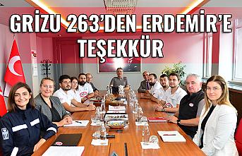 Grizu-263'den Erdemir'e teşekkür