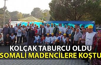 Hüseyin Kolçak, Somalı madencileri ziyaret etti