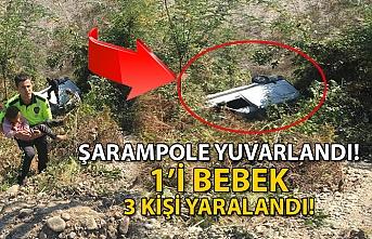 ŞARAMPOLE YUVARLANDI! 1'İ BEBEK 3 KİŞİ YARALANDI!