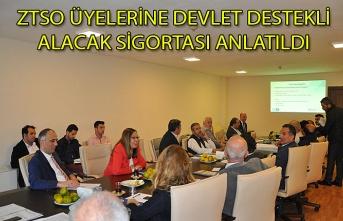 Zonguldak Ticaret ve  Sanayi Odası Üyelerine  Devlet Destekli Alacak Sigortası Anlatıldı