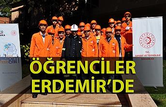 Zonguldak Mesleki ve Teknik Anadolu Lisesi öğrencilerinden Erdemir'e ziyaret