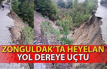 Zonguldak'ta şiddetli yağmur sonrası heyelan