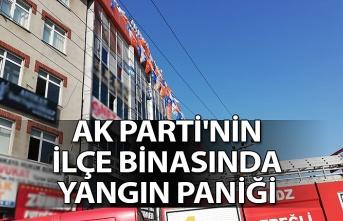 AK Parti'ninİlçe binasında yangın paniği