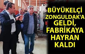 Büyükelçi Zonguldak'a geldi, fabrikaya hayran kaldı
