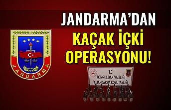 Jandarma'dan kaçak içki operasyonu!