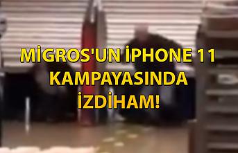 Migros'un iPhone 11 kampayasında izdiham!
