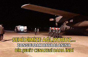 Şehidimize ağlıyoruz... Zonguldak Havaalanı'na bir şehit cenazesi daha indi