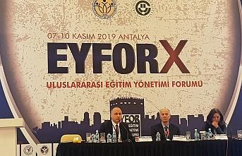 ZBEÜ, Antalya'da EYFOR-X Uluslararası Eğitim Yönetimi Forumu'na katıldı