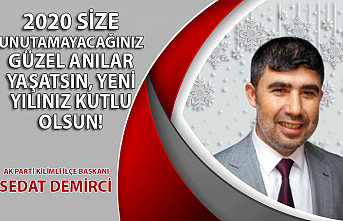 AK Parti Kilimli İlçe Başkanı Sedat Demirci'nin yılbaşı mesajı