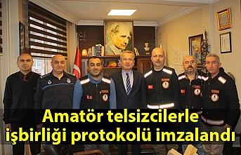 Amatör telsizcilerle işbirliği protokolü imzalandı