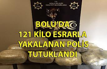 Bolu'da 121 kilo esrarla yakalanan polis tutuklandı