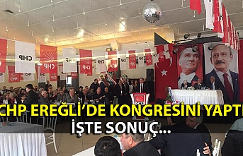 CHP Ereğli İlçe Başkanlığının kongresi sonuçlandı