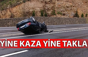 Ilıksu yolu'nda kaza!
