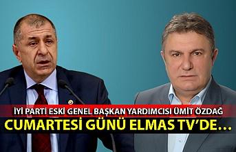 İYİ Parti eski Genel Başkan yardımcısı Ümit Özdağ Cumartesi günü Elmas TV'de…