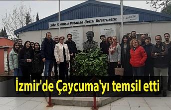 İzmir'de Çaycuma'yı temsil etti
