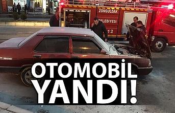 OTOMOBİL YANDI!