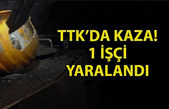 TTK'DA KAZA! 1 İŞÇİ YARALANDI