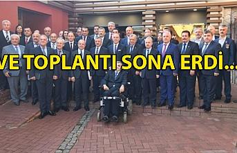 VE TOPLANTI SONA ERDİ...