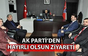 AK Parti'den Emniyet Müdürü'ne hayırlı olsun ziyareti