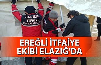 Ereğli itfaiye ekibi Elazığ'da