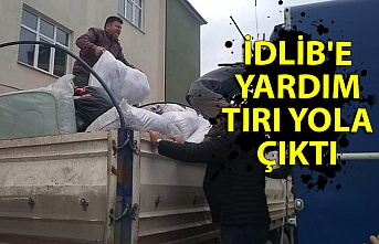 İdlib'e yardım tırı yola çıktı