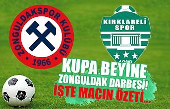Kupa beyine Zonguldak darbesi... Biz Başakşehir'e benzemeyiz! Maç özeti...