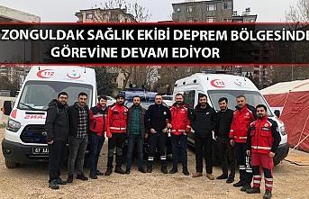 Zonguldak sağlık ekibi deprem bölgesinde görevine devam ediyor